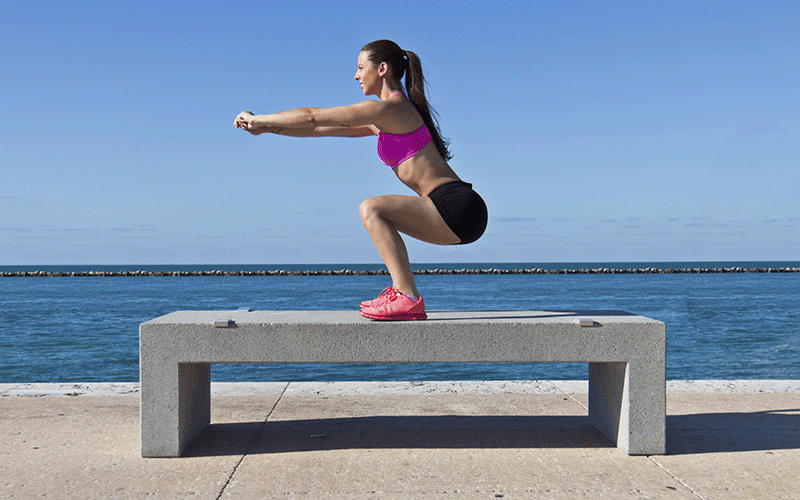 Squats without weights air squats