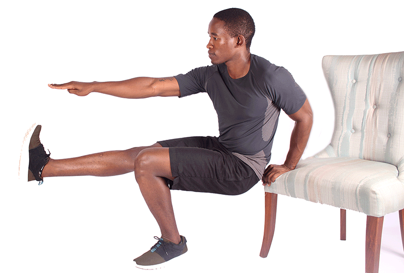 Assisted Pistol Squats or One-Legged Squats for Beginners