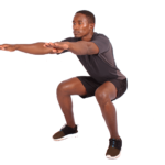 Man Doing Air Squats A Bodyweight Exercise for Legs