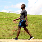 Fitness Man Walking and Exercising