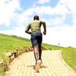 Healthy Lifestyle Runner Running Uphill