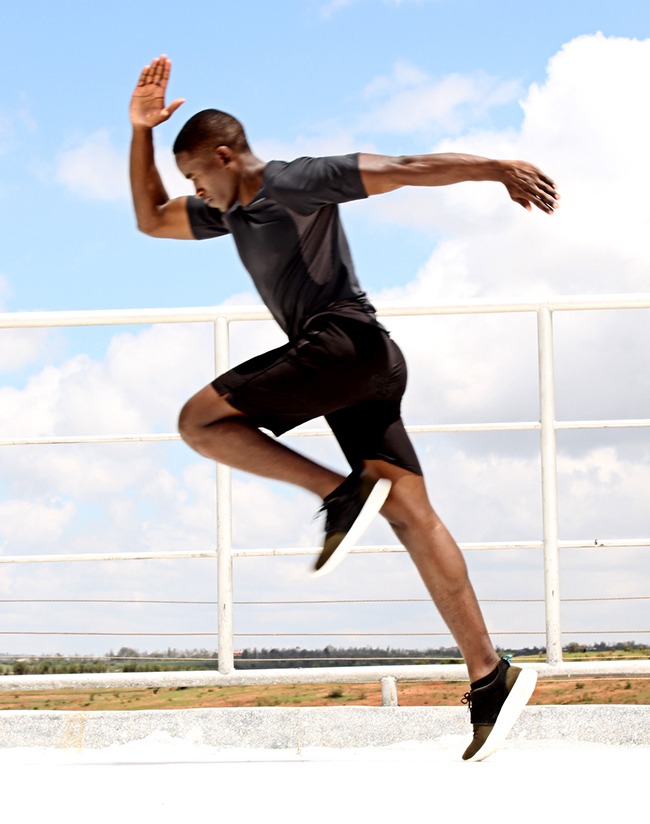 Male Runner Sprinting Outdoors