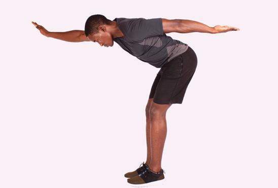 Man Doing Shoulder Stabilization Exercise IYTW Facing Down