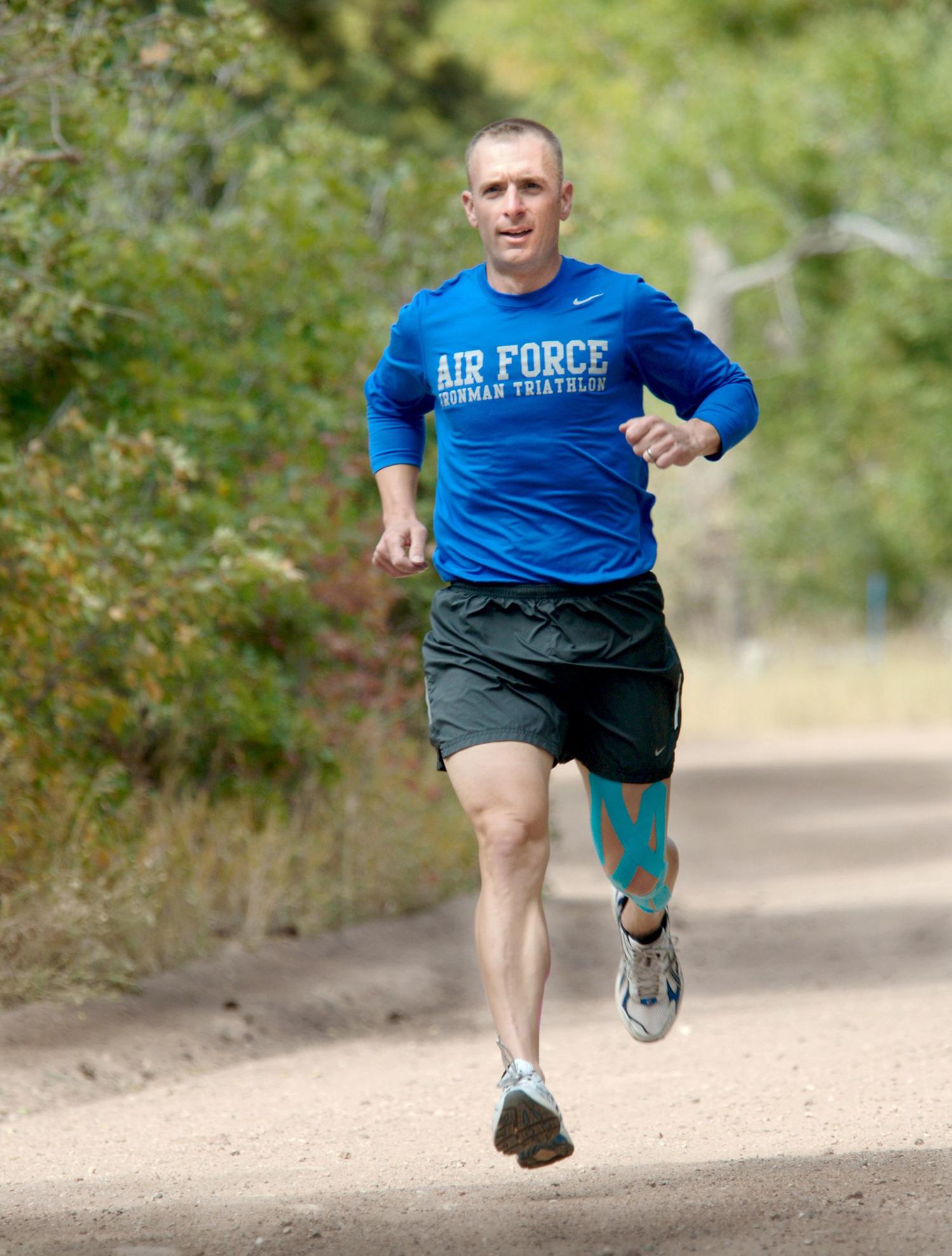 Runner Training In The Forest