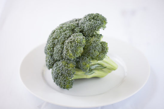 Fresh Raw Broccoli on A Plate