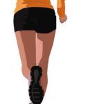 Vector Illustration of A Runner