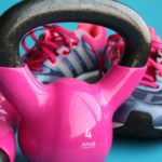 Close-up Kettlebells and Sports Shoes