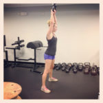 Strong Woman Doing Kettlebell Swings