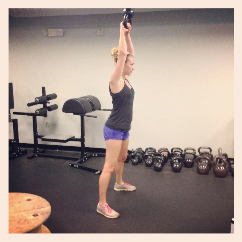 Strong Woman Doing Kettlebell Swings