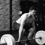 Crossfit Man Doing Deadlift Barbell Exercise