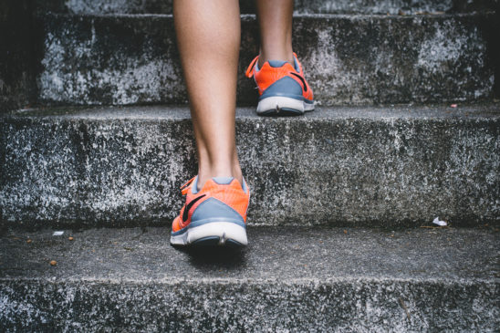 Woman Doing Staircase Workout
