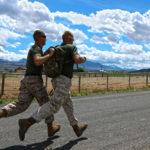 Military Trainees Running