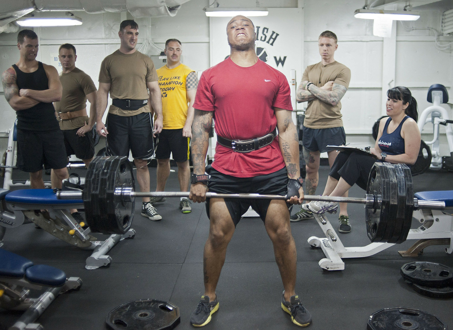 Weight Lifting Competition In The Gym