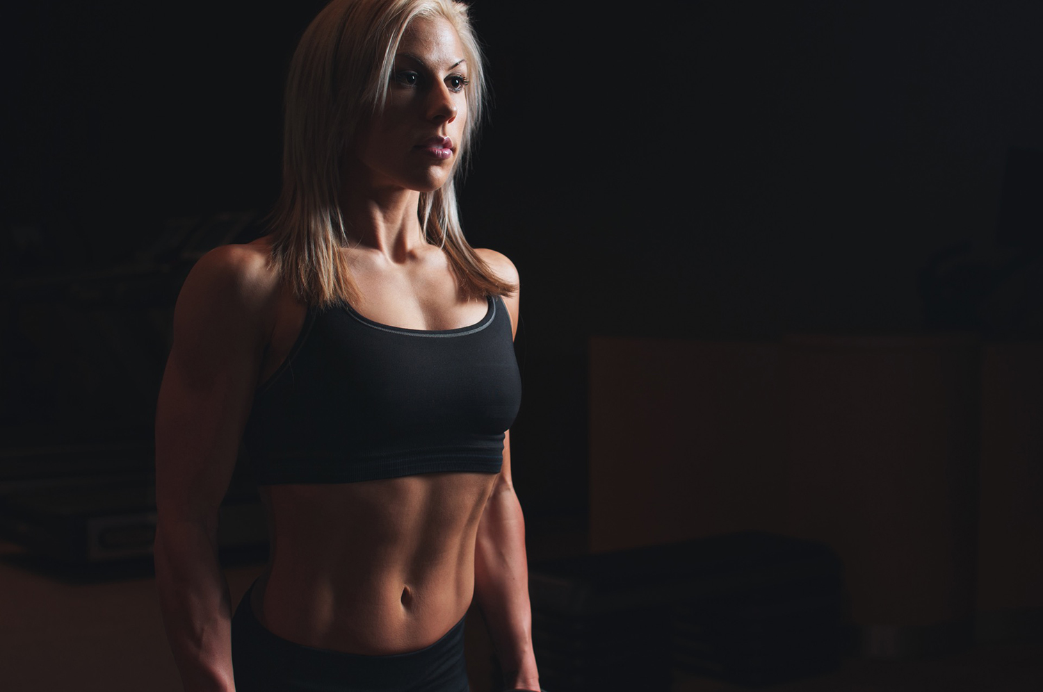 Muscular Woman With Abs