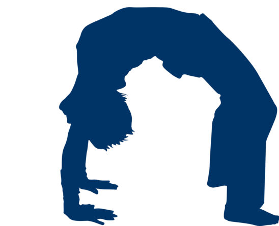 Vector Image of Back Bridge Yoga Pose
