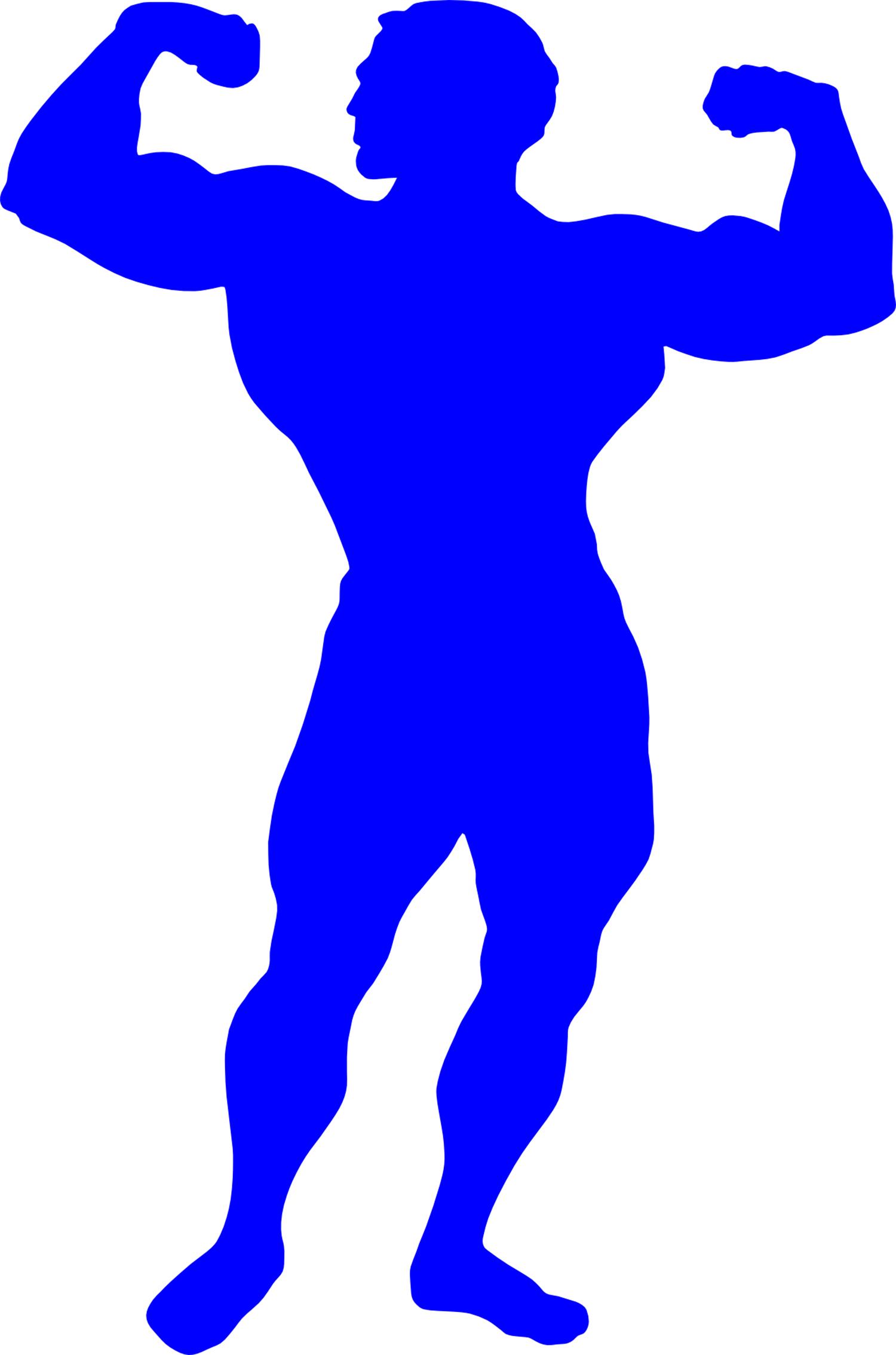 Vector Illustration of Muscular Bodybuilder