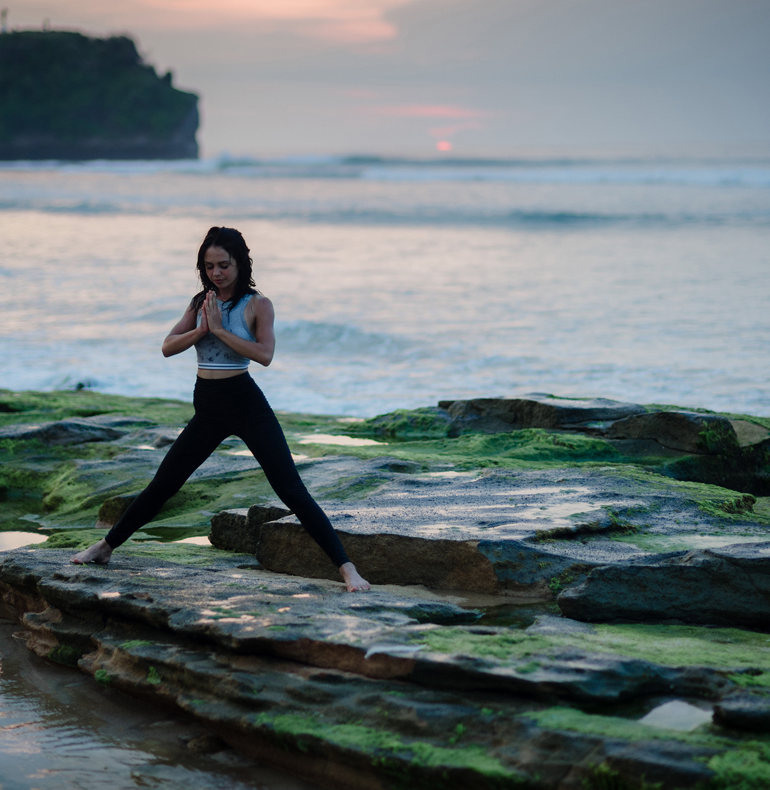Woman Practicing Yoga In Nature High Quality Free Stock Images