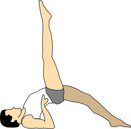 Illustration of Lying Splits Yoga Pose