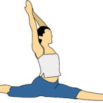 Illustration of Woman Doing Splits Yoga Pose