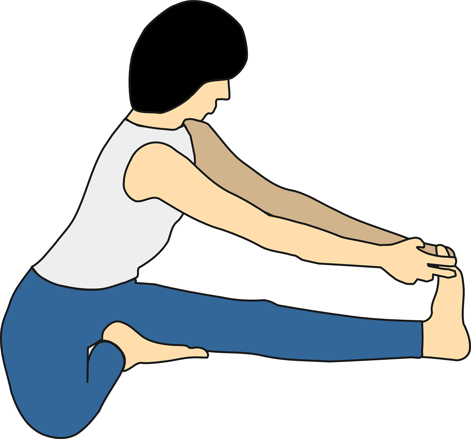 Vector Image of Seated Yoga Pose