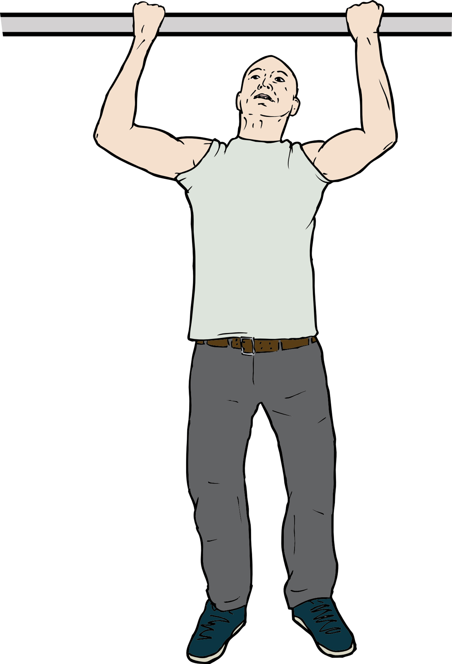 Vector Image of Man Doing Pull Ups Exercise