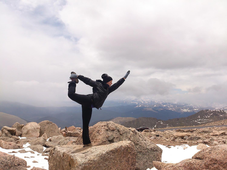 Athletic Woman Doing Balancing Yoga Pose Outdoors
