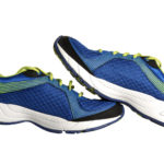 Close-up Running Shoes Isolated on White Background