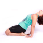 Athletic Woman Exercising and Stretching