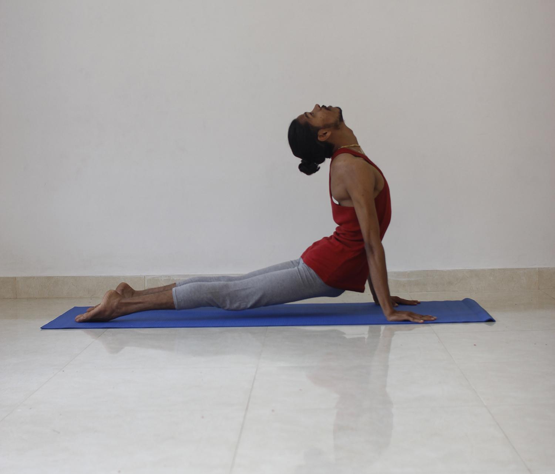 Man Doing Cobra Yoga Pose