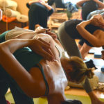 Group Practicing Yoga in Yoga Class