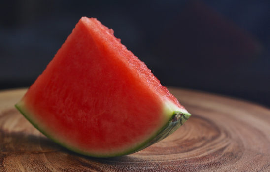 Juicy Slice of Watermelon Fruit
