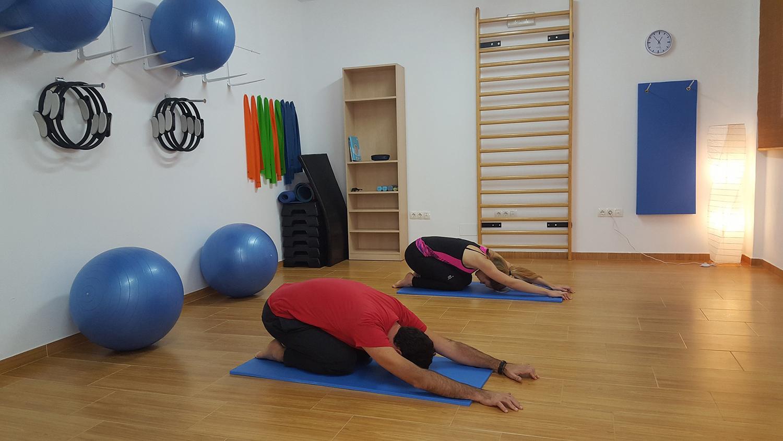 Couple Practicing Yoga, Child's Pose