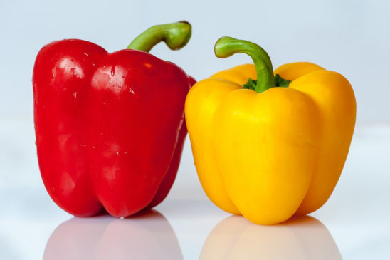 Red and Yellow Paprika Vegetable
