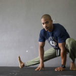 Fit Man Doing Side Lunge Stretch