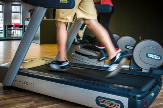 Man Doing Cardio Workout on Treadmill