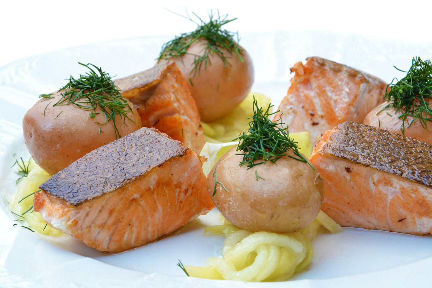 Healthy Meal Salmon and Potatoes