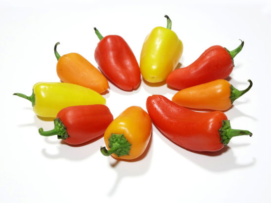 Red, Yellow, and Orange Pepper