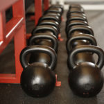 Black Kettlebells In The Gym