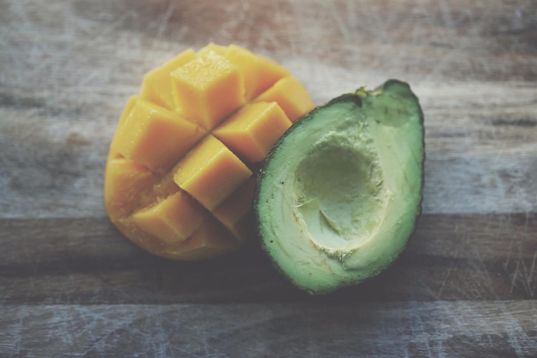 Sliced Mango and Avocado
