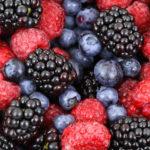 Close-up Raspberries, Blueberries, and Blackberries