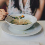 Healthy Woman Drinking Bone Broth Soup