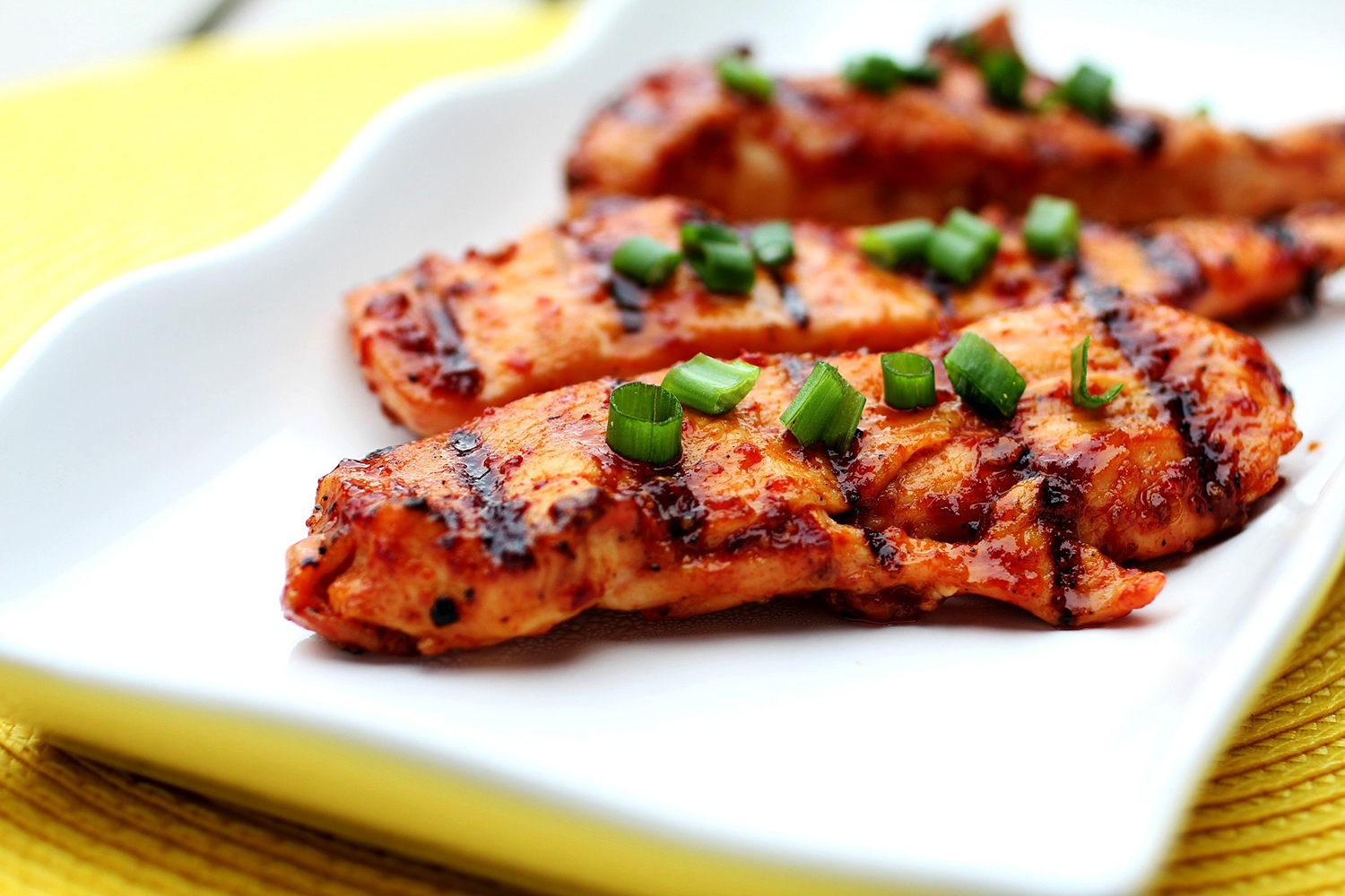 Spicy Grilled Chicken On A Plate