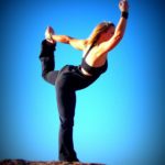 Healthy Woman Doing Yoga Outdoors. Balancing Dancer's Pose