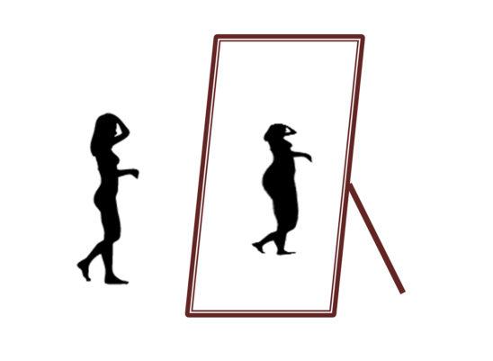 Vector Illustration of Body Image Struggles