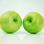 Two Green Apples Studio Shot