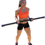 Muscular Woman Lifting A Barbell