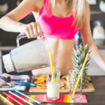Toned Woman Making A Smoothie