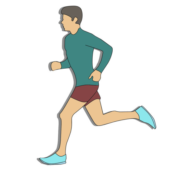 Vector Image of Man Running