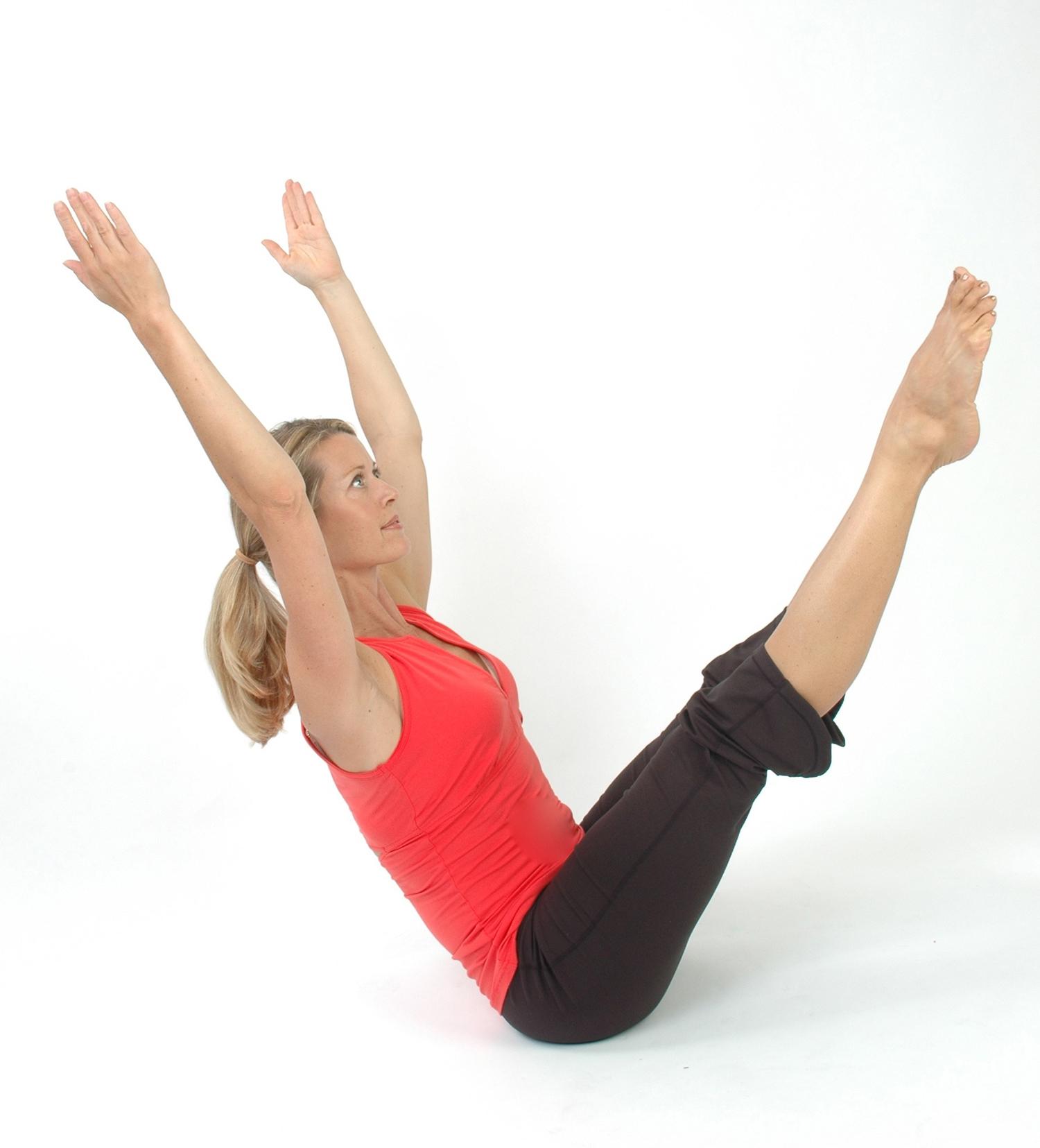 Yogi Doing Balancing Yoga Pose