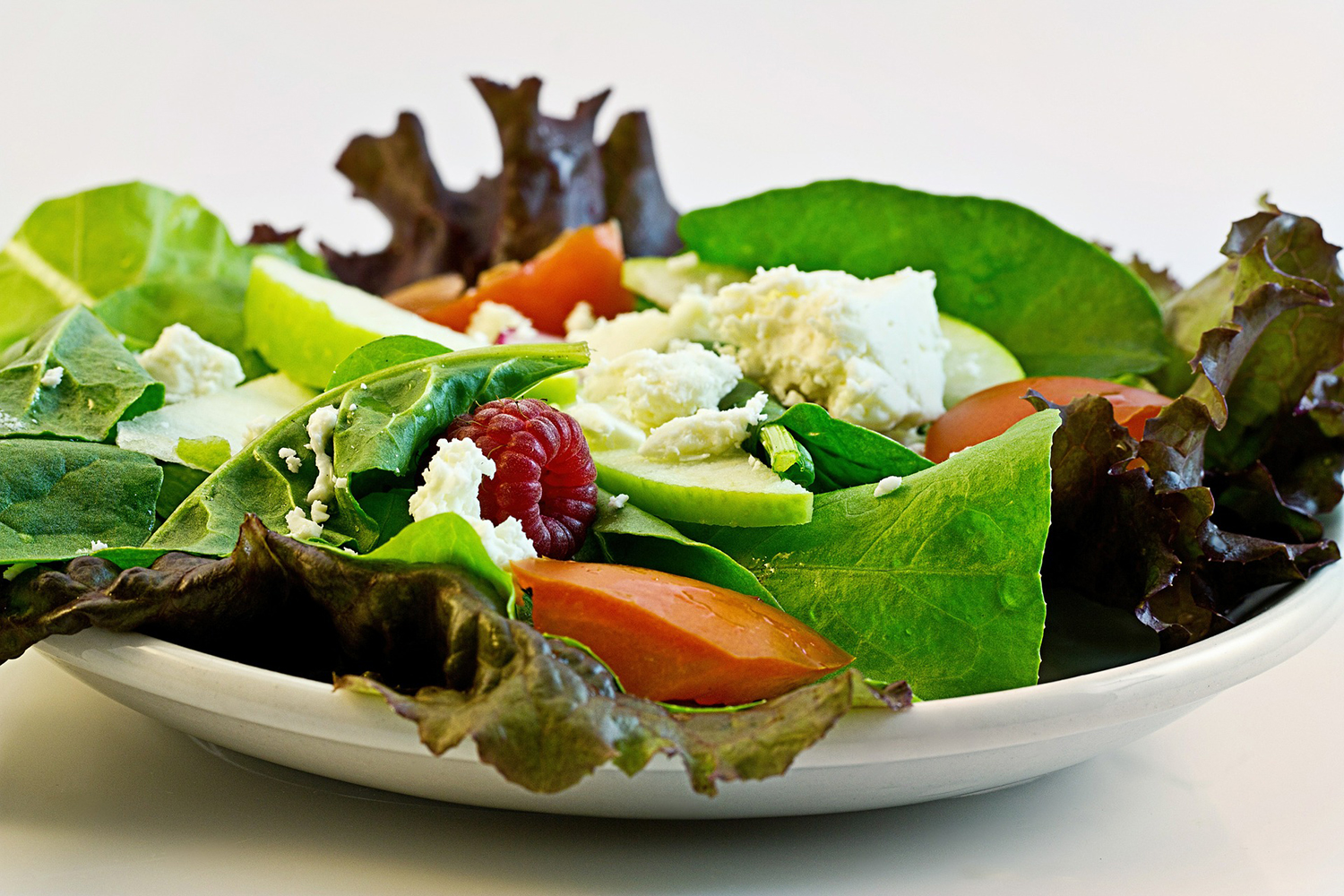 Healthy Fresh Salad In A Plate